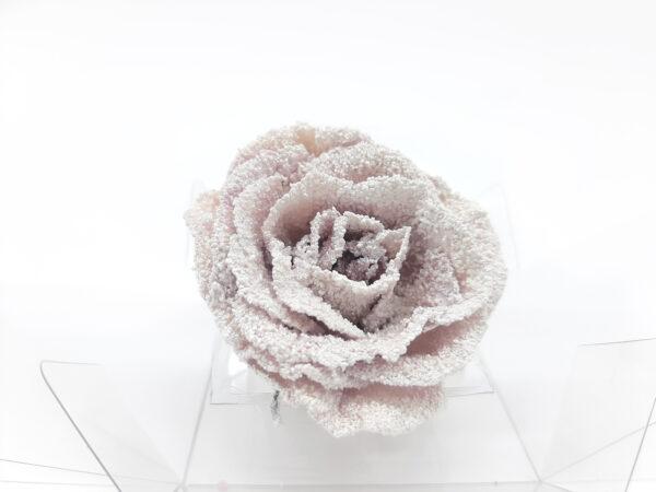 Rosa mini teñida, color plateado